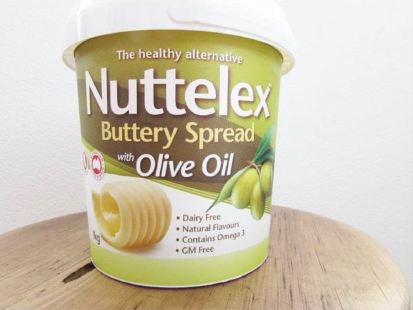 nuttelex buttely spread with olive oil