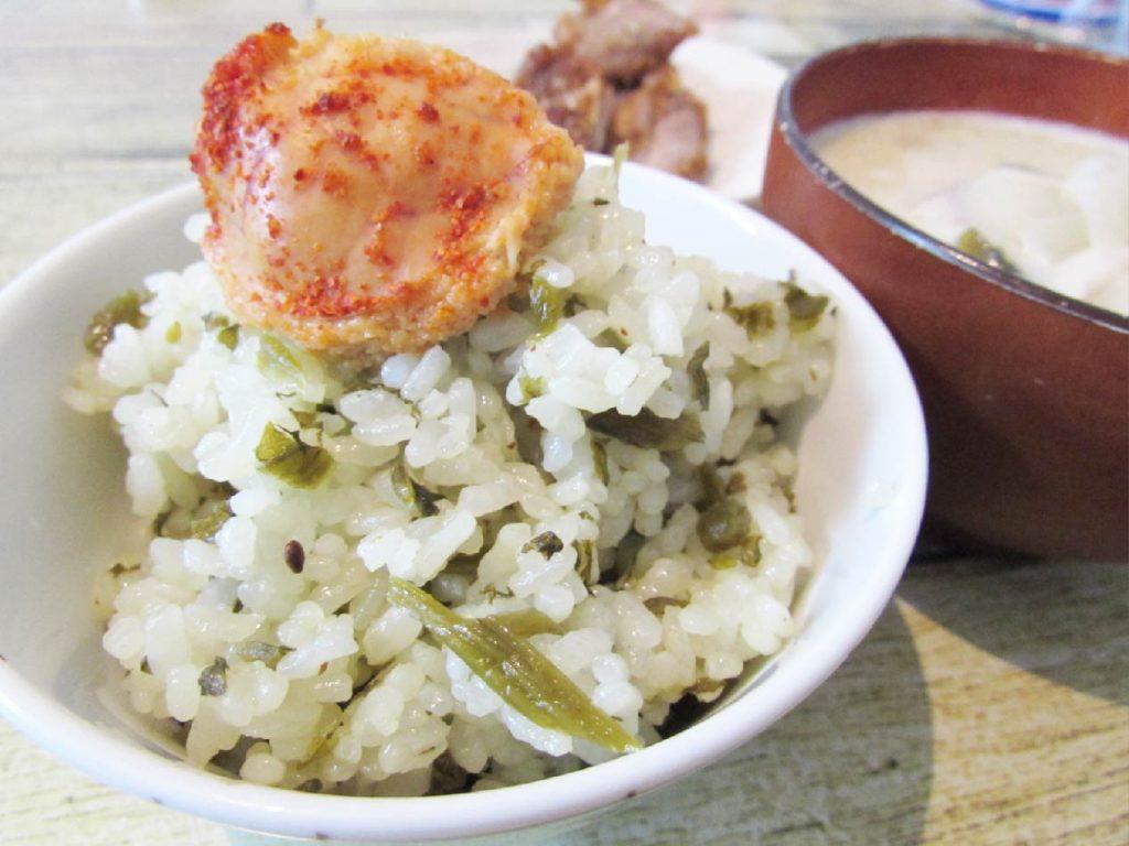 もへじ高菜めしの素調理例