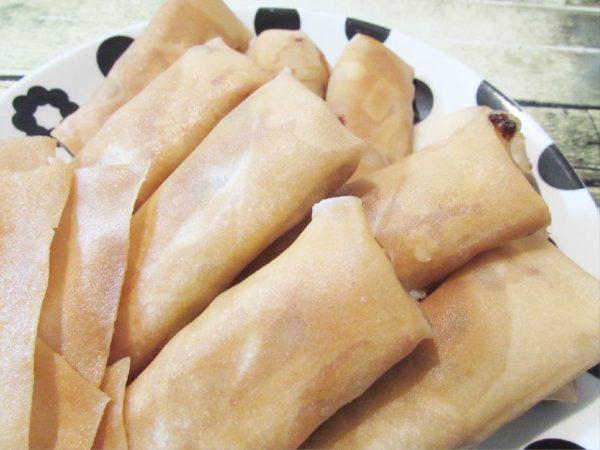 熊本県産米粉使用春巻きの皮調理例